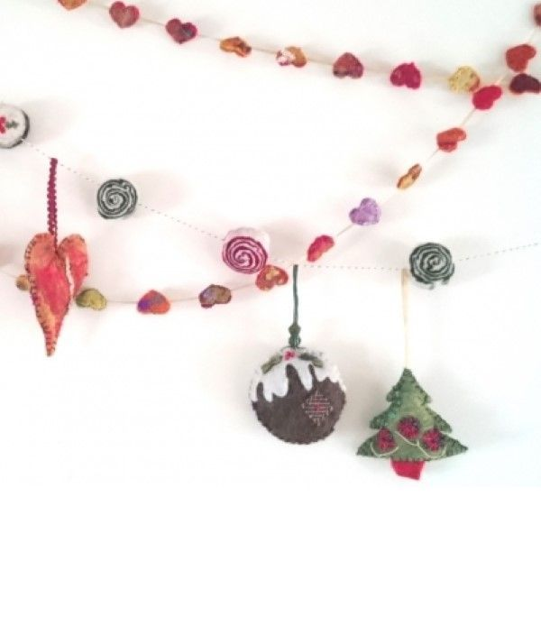 Festive Felt Garlands Workshop in Cumbria
