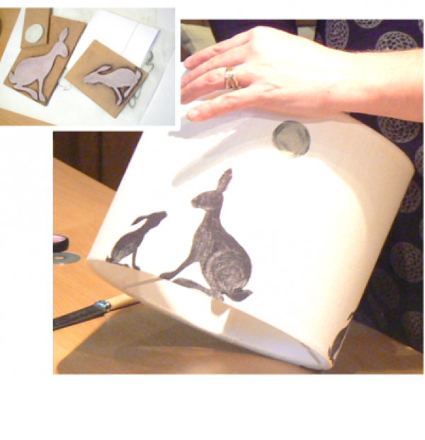 Lampshade Print Workshop in Cumbria