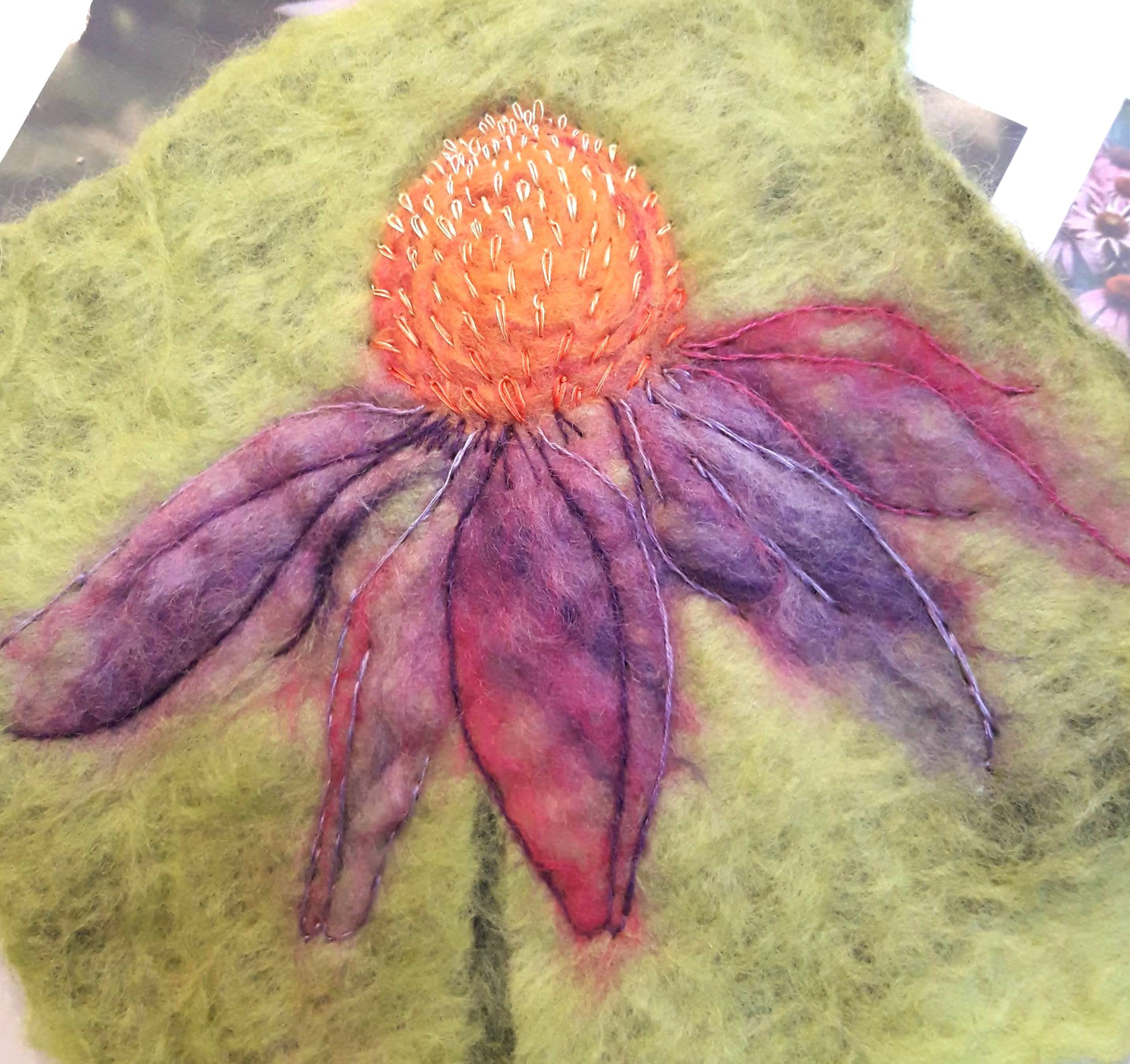 Felt Art Workshop in Cumbria