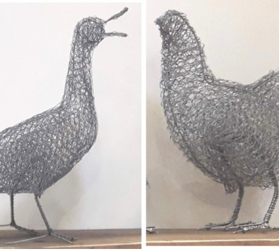 Wire Sculptures 'Ducks or Hens' with Chris Moss