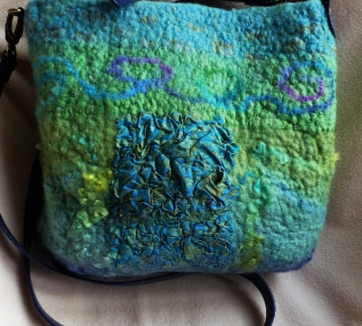 'Make a Nuno Felt wool & silk Bag' with Marian May