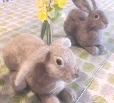 Needlefelt a Bunny with Annis McGowan