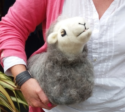 Needle Felt a Herdwick doorstop with Annis McGowan