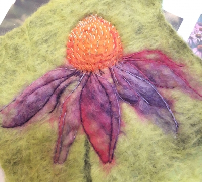Discovering Felt Art & Hand stitch ~  with Marieke Tomlin