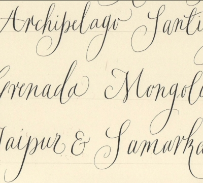 'Modern Calligraphy (Beginners +) & all styles' 2 days with Gaynor Goffe