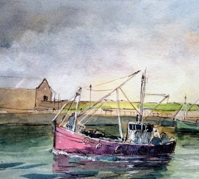 'Painting Boats in the Harbour' with Roy Simmons