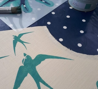 Hand Stencil & Roll a Lampshade short course