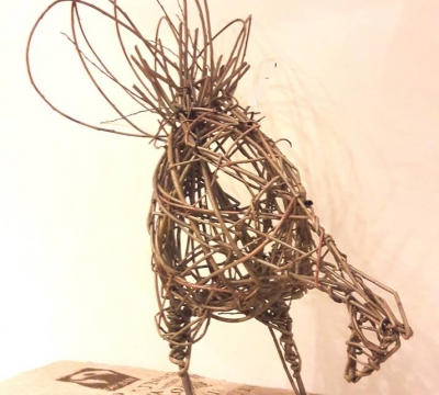 Willow Sculptures ~ Hares, Sheep, Hens & Cockerels or Deer with Phil Bradley