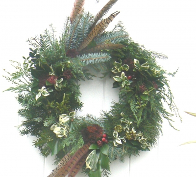 Make a large Christmas Door Wreath